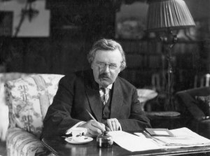 g-k-chesterton at desk