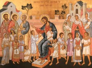 icon suffer the little children