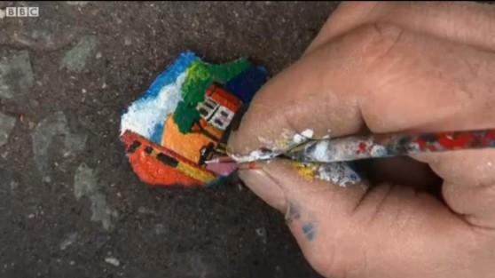 gum art bbc w hand