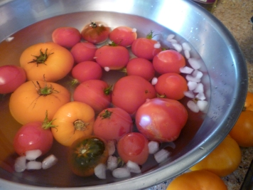 tomatoes peeling ice