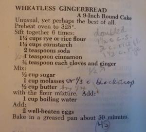 Wheatless Gingerbread in Joy