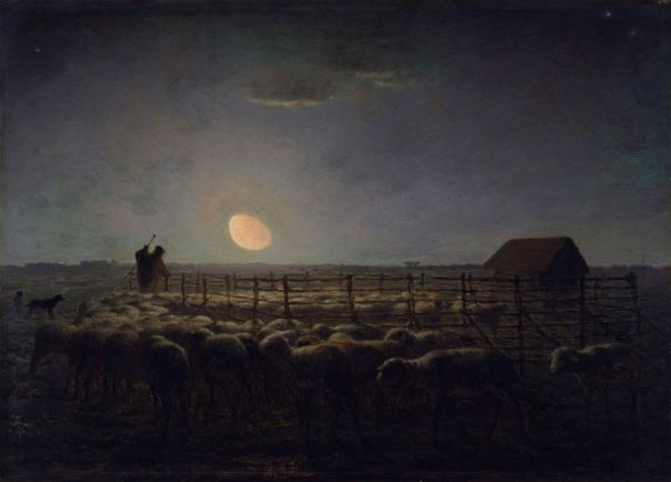 Jean-François_Millet_-_The_Sheepfold,_Moonlight