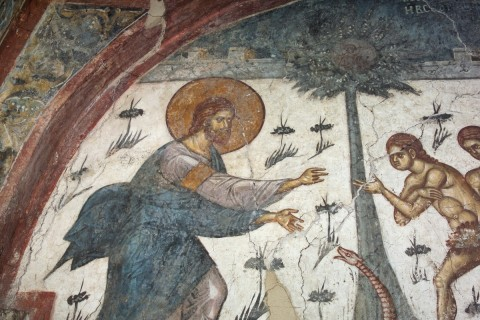 expulsion Adam & Eve - Decani Monastery