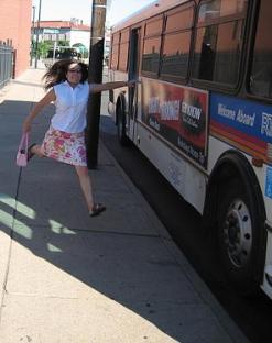 catch bus running