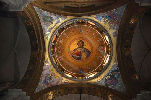 pantocrator dome in church
