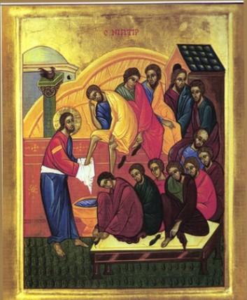 Christ washing feet interruptingthesilence